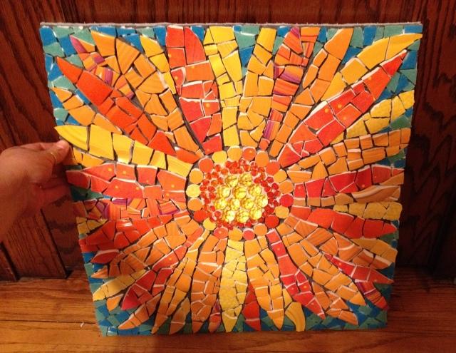 Gerber daisy mosaic