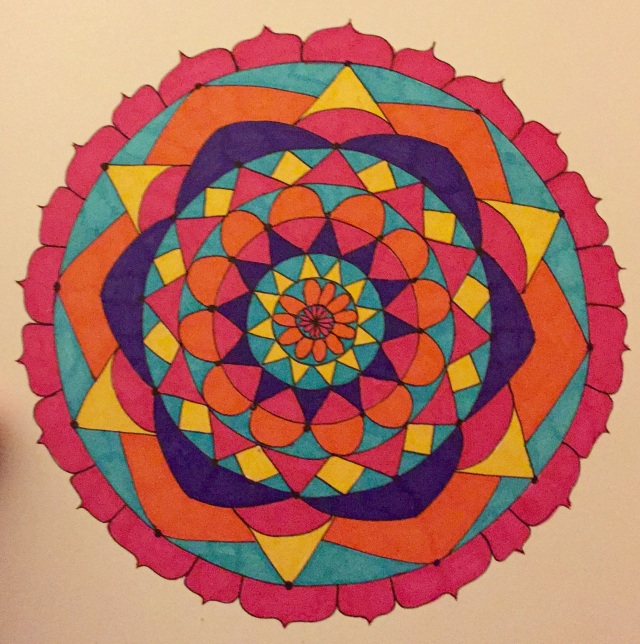 Multi-colored mandala